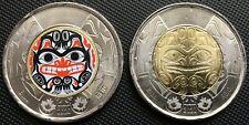 2020 Canada Bill Reid $2 Dollar Toonie Coin, Colored & Non-Colored Version, UNC