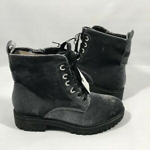 Mossimo Supply Co. Women's Rihanna Gray Velvet Combat Boots