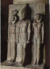 Alte Kunstpostkarte - Kairo - Ägypt. Museum - König Mykerinos mit Gattin Hathor