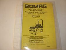 Bomag BW 138 AC Vibratory Roller Parts Manual , s/n 101 650 15 1011 - up