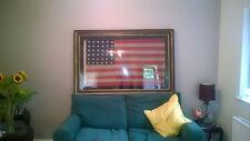 Antique Civil War flag 36 star Civil War 1864 'Nevada' (Annin NYC) silk hand sew