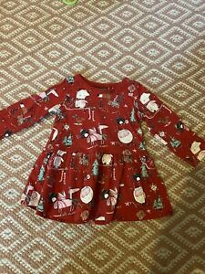Baby Girls Next Christmas Dress 6-9 Months Immaculate Condition