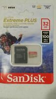 SANDISK EXTREME PLUS MICRO UHS-I 32GB MEMORY CARD 100MB/s WITH ADAPTER