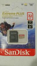 SEALED SANDISK EXTREME PLUS MICRO UHS-I 32GB MEMORY CARD WITH ADAPTER 100MB/s !!