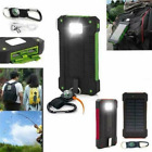 Solar Charger 9000000mAh Waterproof Power Bank 2USB LED Battery Backup for Phone