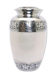 Large Cremation Urn Adult Urn For Ashes Funeral Memorial Urn White Ashes Urn