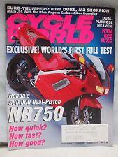 Cycle World Magazine August 1994 Honda Oval Piston NR750 KTM 620 R/XC
