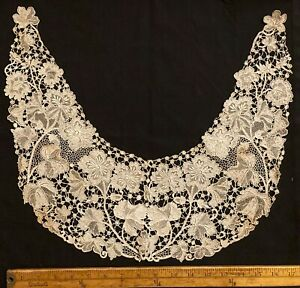 Vintage Point de Venise Lace Collar Italy Large Needle Made Mid 1800's- 1900's