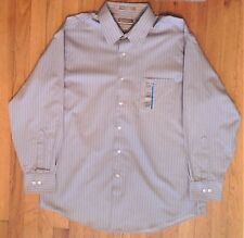 NWT,  ARROW Grey Fitted Wrinkle Free Dress Shirt 17 x 32/33 Cotton Blend (817)