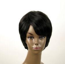 perruque femme afro 100% cheveux naturel méchée noir/rouge SHARONA 02/1b410