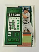 2020 Contenders Baseball Green Parallel - Matt Chapman - Oakland Athletics
