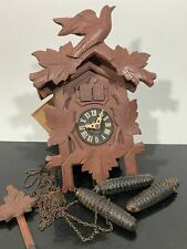 New ListingVtg G.M. Angem Germany Carved Black Forest Wood Classic Cuckoo Clock - Untested