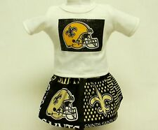 New Orleans Saints Outfit For 18 Inch Doll