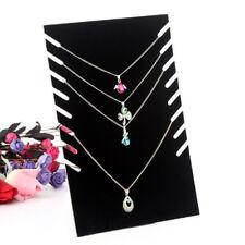 Necklace Bracelet Display Holder Stand Velvet Board Jewelry Shelf Rack A7