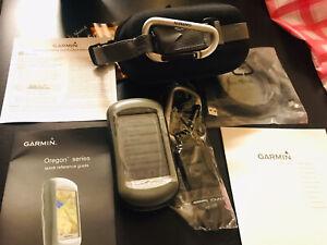 Garmin OREGON 400t GPS Bundle 2 Belt Clips Manuals Case New Unused Free Shipping