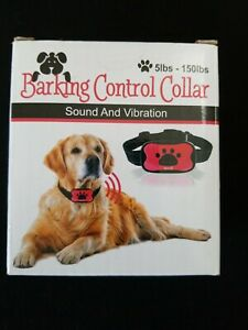 NIB Sound and Vibration Barking Control Collar For Dogs 5 - 150 lbs