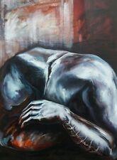 Lysiane D. COSTE acrylique sur toile 60/80 cm série bras scarification