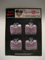 vintage minnie n me Walt Disney mickey mouse 4 comb barretes NIP party makers
