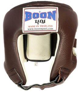 BOON  HEADGEAR GUARDS HGC  M L XL COMPETITION MUAY THAI PROTECTOR  MMA K1