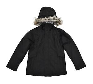 Girl's North Face Black Heather Ella Lou Urban 550 Down Jacket New