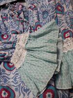 Funky Ladies Boho Naudic Cotton Blouse, Large, bell sleeve