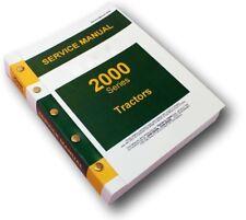 SERVICE MANUAL FOR JOHN DEERE 2010 2000 TRACTOR TECHNICAL REPAIR SHOP