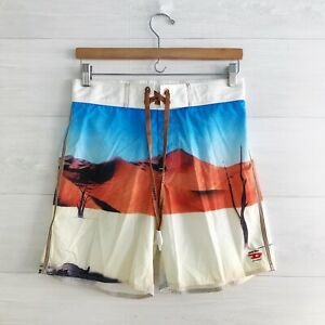 NWOT Diesel Beachwear - Desert scene swim trunks, M
