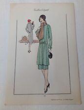 Pochoir - 1930 - Planche 190 du Tailleur élégant - mode - fashion