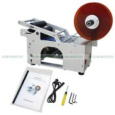Mt-50 Semi-Automatic Round Bottle Labeling Label Labeler Machine Top Quality