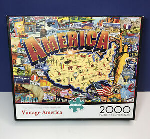 Vintage America 2000 Piece Jigsaw Puzzle Buffalo Games & Puzzles NEW SEALED