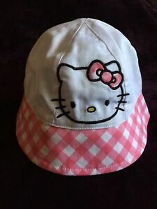 NEW Hello Kitty One Size Pink and White Girls Toddlers Bucket Cap Sun Hat