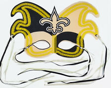 Mardi Gras Themed NFL New Orleans Saints Felt Mask w/ Ribbon Ties