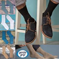 Gentle Grip - 6 Pack Mens Loose Non Binding Elastic Cotton Diabetic Crew Socks