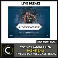 2020-21 PANINI PRIZM BASKETBALL 12 BOX (FULL CASE) BREAK #B590 - PICK YOUR TEAM