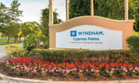 Wyndham Cypress Palms Resort, Kissimmee, FL -  2 BR DLX - Jul 5 - 9 (4 NTS)