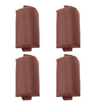 4pcs Headrest Replacement Pillow Cushion for Folding Lounge Chairs Brown