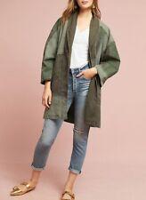ANTHROPOLOGIE Hei Hei Green Utility Patchwork Kimono Jacket NwT M/L