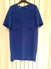 Mango Basics Cobalt Blue Pocket Detail Mini Dress Size M