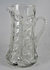 McKee Wiltec Prescut Tankard Glass Pitcher Clear EAPGS Spinning Feather Stars