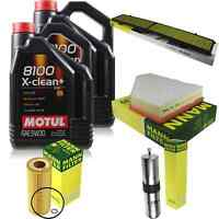 Motul 9 L 5W-30 Engine-Oil + Mann Filter for BMW 3 Series Touring E91 335d Coupe