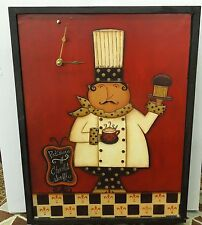 CHEF WALL CLOCK - LEFT HANDED CLOCK