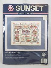Dimensions Sunset Country Welcome Stamped Cross Stitch Kit Vintage 1995