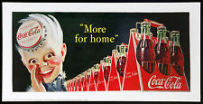 COCA COLA poster pubblicitario MORE FOR HOME