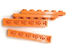 Lego 4 New Orange Plate 1 x 6 Dot Building Blocks Pieces