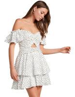 NWT FOREVER NEW Paris Polka Dot Mini Dress - size 12 - RRP $149.99