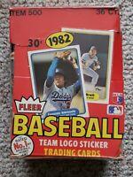 1982 Fleer Baseball BBCE Authentic Sealed Wax Pack Box Cal Ripken Jr. RC Yr