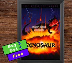 "Disney Animal Kingdom Dinosaur Attraction Poster 12""x18"" (Buy 3 Get 1)"