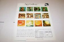 Vintage WARREN PAPER PRODUCTS - ART GALLERY PUZZLES ad sheet #0230