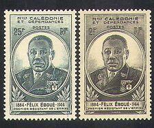 New Caledonia 1945 Felix Eboue/Politics/Politician/Statesmen/People 2v (n36899)