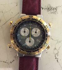 Citizen Chronograph WR 100 orologio nuovo vintage anni 90 cassa acciaio mm 40,00